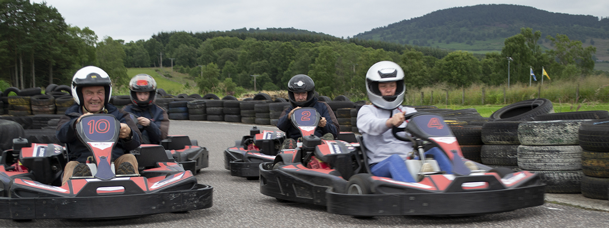 Go Kart Racing at Deeside Activity Park